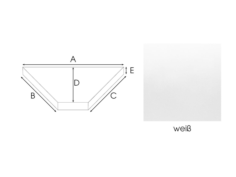 7be9abfda6 Trapez Spannbettlaken nach Maß - Mako Satin (z.B. für Boot)